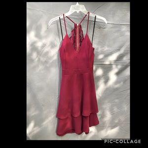 B. Darlin Burgundy Formal Dress